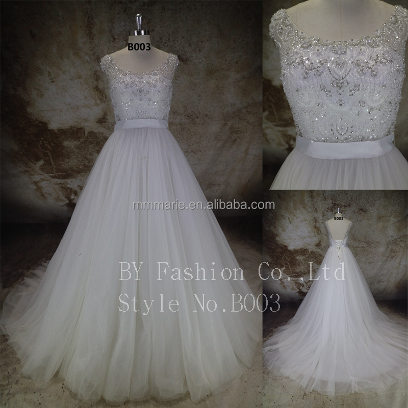 Factory price!New Fashion Lady dresses Elegant Crystal Wedding Dress Lace Fabric Dress for fat custom wedding gowm plus size
