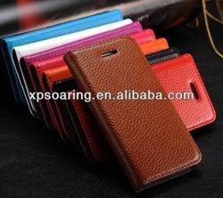 Genuine Cow leather skin case pouch bag for iphone 5C