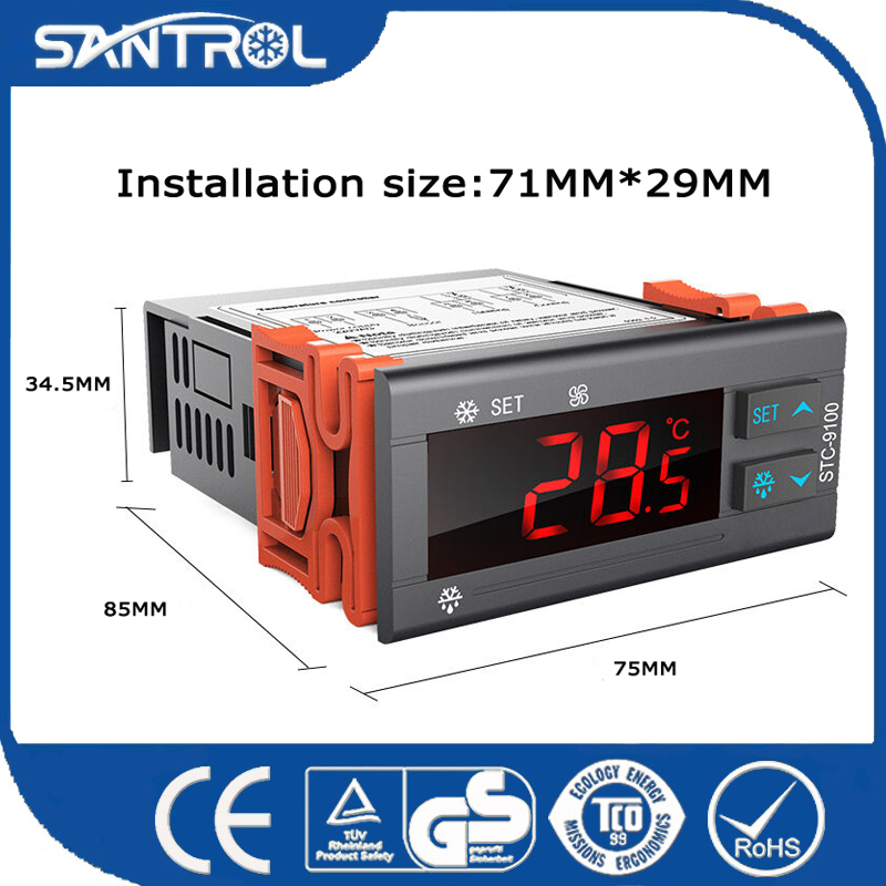 Upgraded Version Cool/Heat Auto Switch Price Digital Temperature Controller for Fish Pond and Oil Cool STC-9100