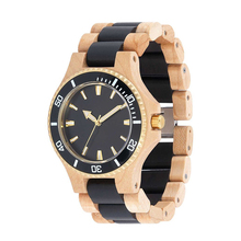 Hot Sale Bamboo Couple Watch Custom Logo On Wooden Wrist Watch Men With Japan Movement Quartz Watch Stainless Steel Back