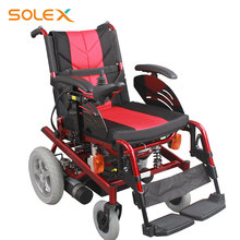 Lightweight Stronger Gradeability Electric Motor E Power Folding Travel Wheelchair With Motor Controller