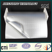 For resealable! High peel adhesion High strength glue Embossed Aluminum Foil Cladding