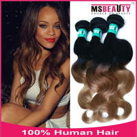 Ombre Hair Extension For Black Woman 100% Virgin malaysian hair full lace wig