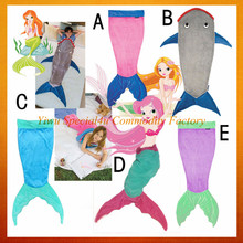 2016 hot sell mermaid blanket soft baby mermaid sleeping bag SPMB-001