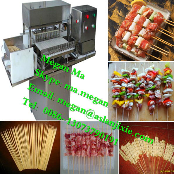 Automatic skewer machine/ satay meat skewer machine/doner kebab machine