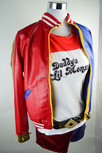 Harley Quinn Jacket Suicide Squad Halloween Cosplay Adult Costume