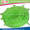 Green Set Of 5 Food Grade Silicone Food Cover To Keep Fresh Longer And Warm