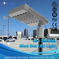 NEW Product outdoor Christmas laser lights white shell Led Shoe Box 110lm/w 120w DLC UL street lights