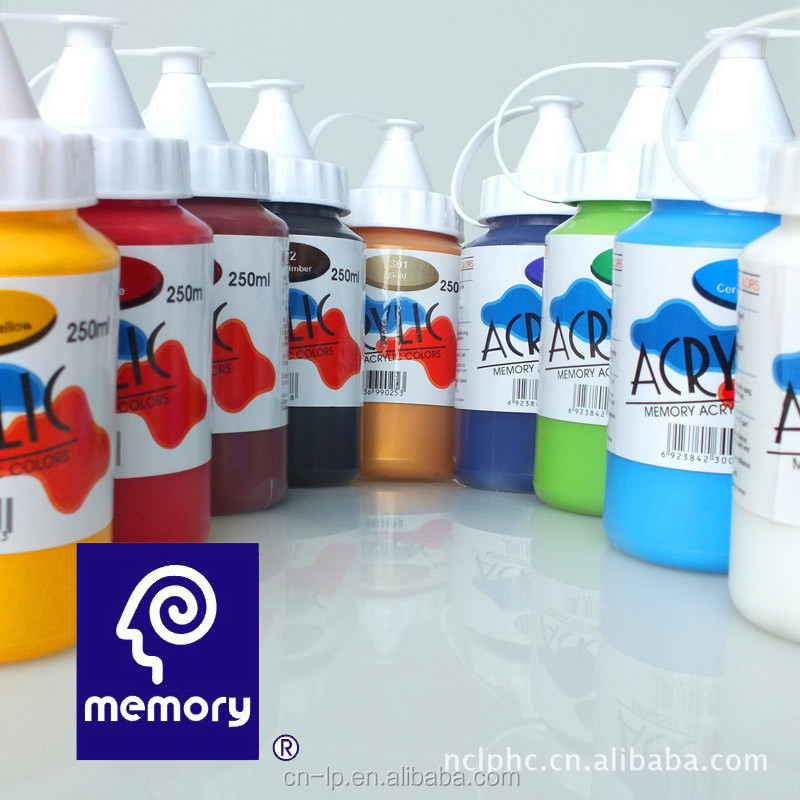 Memory paint non toxic acrylic paint in bottle package for artist acrylic color