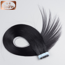 Wholesale Jet Black #1 Tape in Hair Extension Top Quality 30 Inch Virgin Brazilian Hair Extension Remy Tape Hair Extension