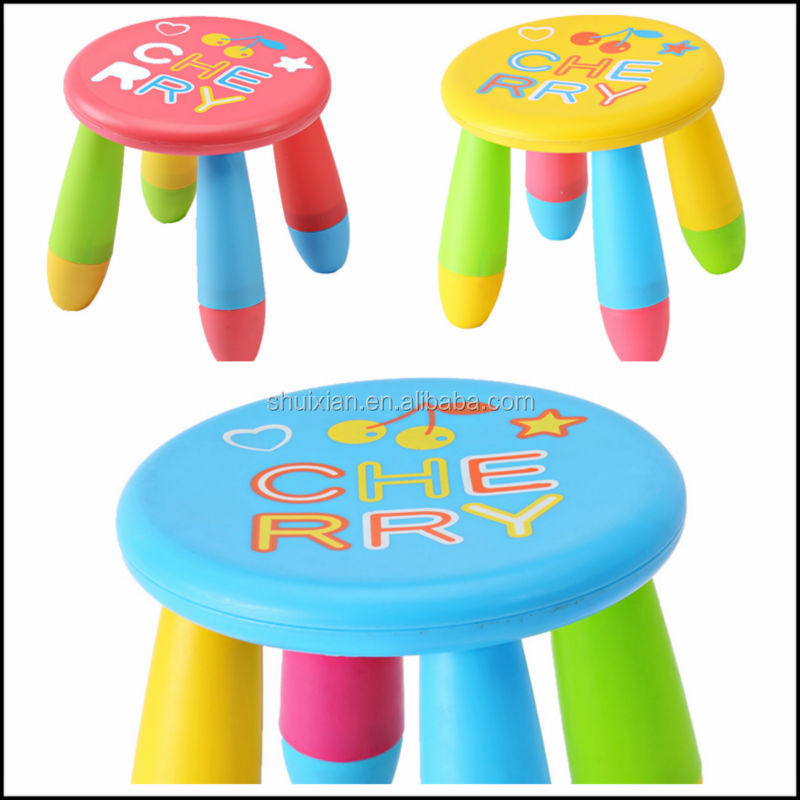 Hot selling animal bee pattern round shape kids stool plastic lovely baby stool BN7410