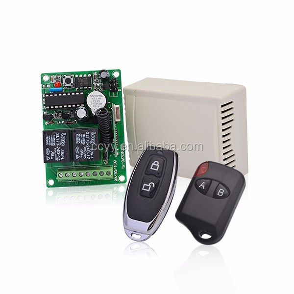 Wireless 2 or 4 channel 433Mhz radio garage door rf transmitter and receiver