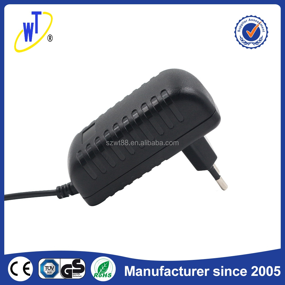 High capacity ac dc power 12v 1a 12W adapter supply stable frequency