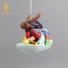 2018 Best Selling Glass Deer Christmas Tree Ornament