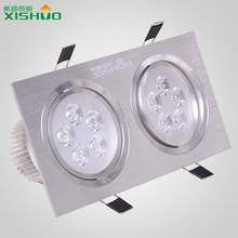 LED Surface Mounted Panel Down Light double heads 2*5W 10W CE RoHS high power dimmable square led ceiling light