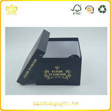 Custom made square gift box cardboard packaging, cardboard paper box, paper box made in China