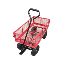 Garden tools mesh folding wagon steel tool cart