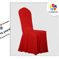 Good Business Reputation Red Skirting Spandex Chair Cover for Wedding