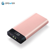 2017 trending products Rose gold metal case mobile phone accessories charger power bank 20000mah