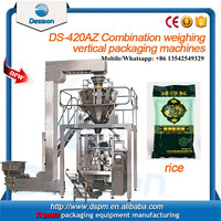 Multihead weigher automatic packing machine for rice, bean, cracker, biscuit, mushroom, dumpling