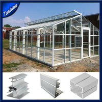 customized Aluminium Sunroom/Greenhouse/Skylight System Aluminium Profile for Glass Roof
