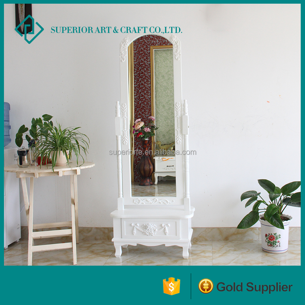 Stand Wood Makeup Mirror