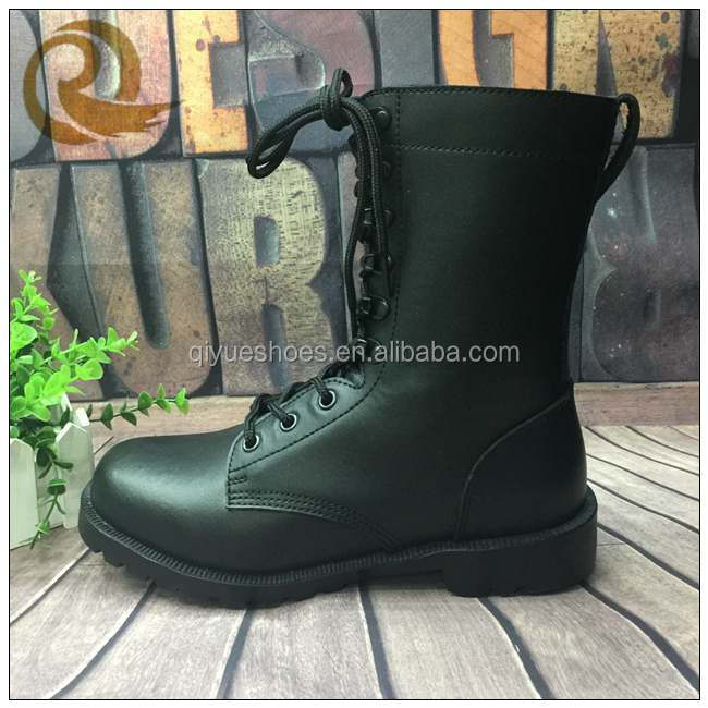 Black patent leather military boots belleville boots indian army boots