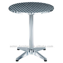 Modern style stainless steel aluminum alloy leg coffee table