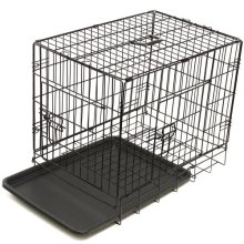High Quality Double-Door Folding Protable Color Logo Customize Iron Wire Pet Cage