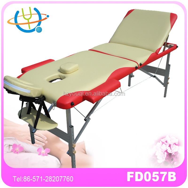 2016 Salon Furniture Aluminium Cheap Table de Massage Sex for Sale