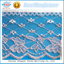 Polyester Fashion 8cm Height Lace Trim Fabrics
