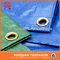 115gsm high quality laminated tarpaulin sheet with Brass buckle