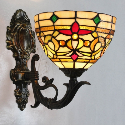 fancy tiffany baroque design shade wall lamp for lobby decor