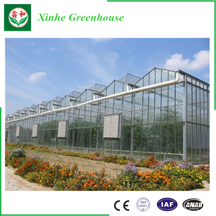 xinhe glass greenhouse for hot saleused greenhouse frames for systems