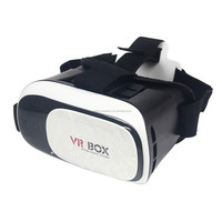 "2016 Original VR 3D Virtual Reality Glasses Boxes Google Cardboard Glasses Head Mount for 4.0""~6.5"" Smartphone"