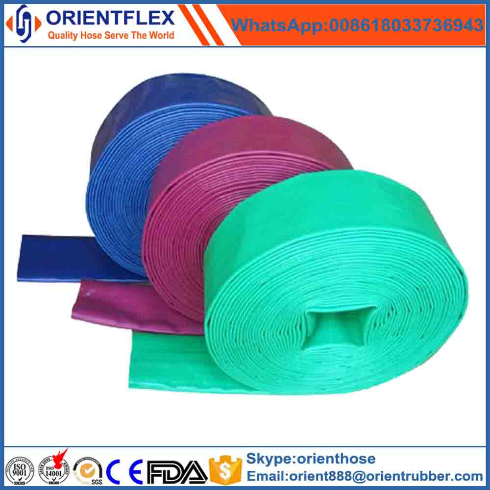 Tensile Synthetic Fiber Reinforced Heavy Duty PVC Layflat Hose