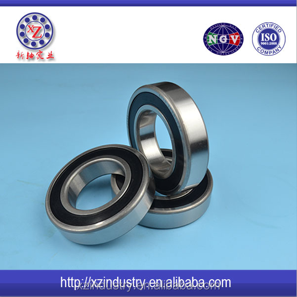Rubber coated motorcycle bearings 6300 2RS ball bearings