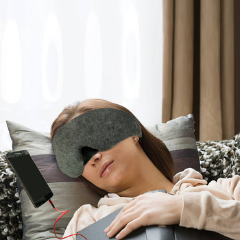 sleeping headphones eye mask wired