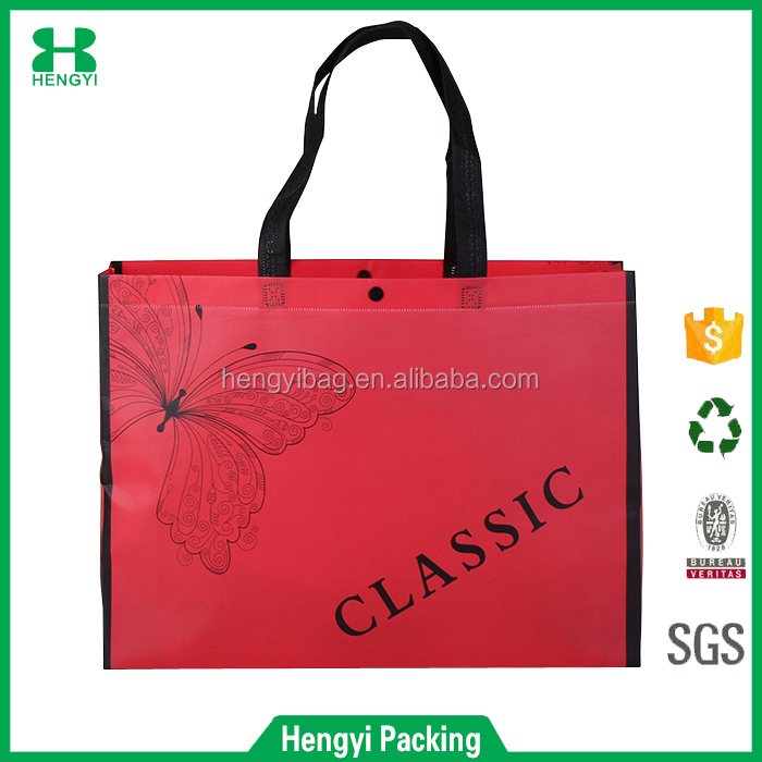 wholesale recyclable foldable glossy laminated non woven bag
