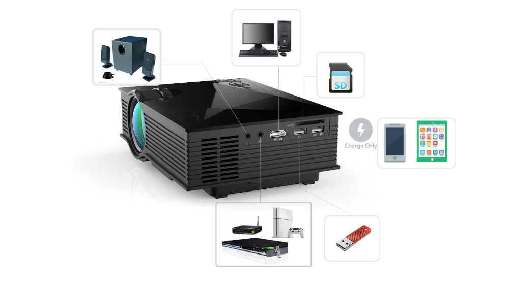 2015 new wireless connection 1200lumens support andorid,iOS,Windows 8.0 and above UC46 wifi mini projector