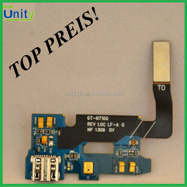 Ori part phon, OEM Mic Microphone USB Charger Charging Flex for Samsung Note 2 II N7100