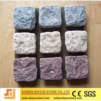 Granite tumbled cobble stone mat