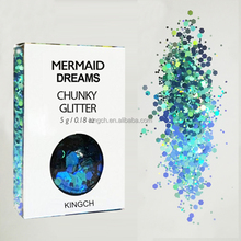 Top quality Mermaid Dreams Chunky Glitter for Nails Face Body Hair