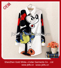 OEM women's whole mickey mouse print shirt