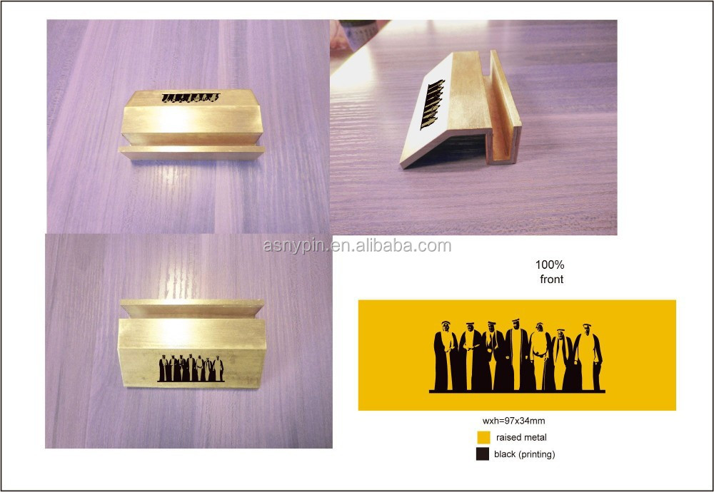 Name Card Holder Gold Metal Office Business Cards Stand Desk For Display