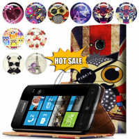 For Nokia Lumia 610 High Quality Print Card Holder Flip PU Folio Wallet Leather Case Cover Moible Phone Csae