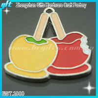 2013 New Apple Charms / Fashion apple key chain /promotional enamel apple keyring GFT-KC032