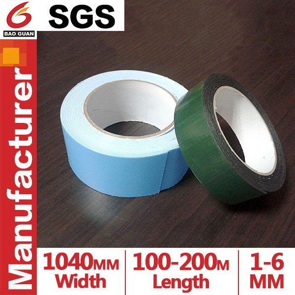 High Quality 6mm Blue Film Double sides EVA foam Tape for furniture