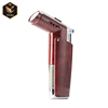 metal pocket butane gas windproof jet flame cigar lighter