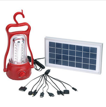 YJ-5833TP camping led rechargeable and solar power system emergency lantern